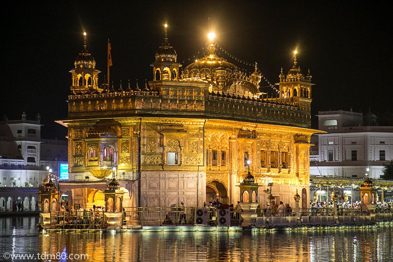 Le Golden Temple d'Amritsar en Inde