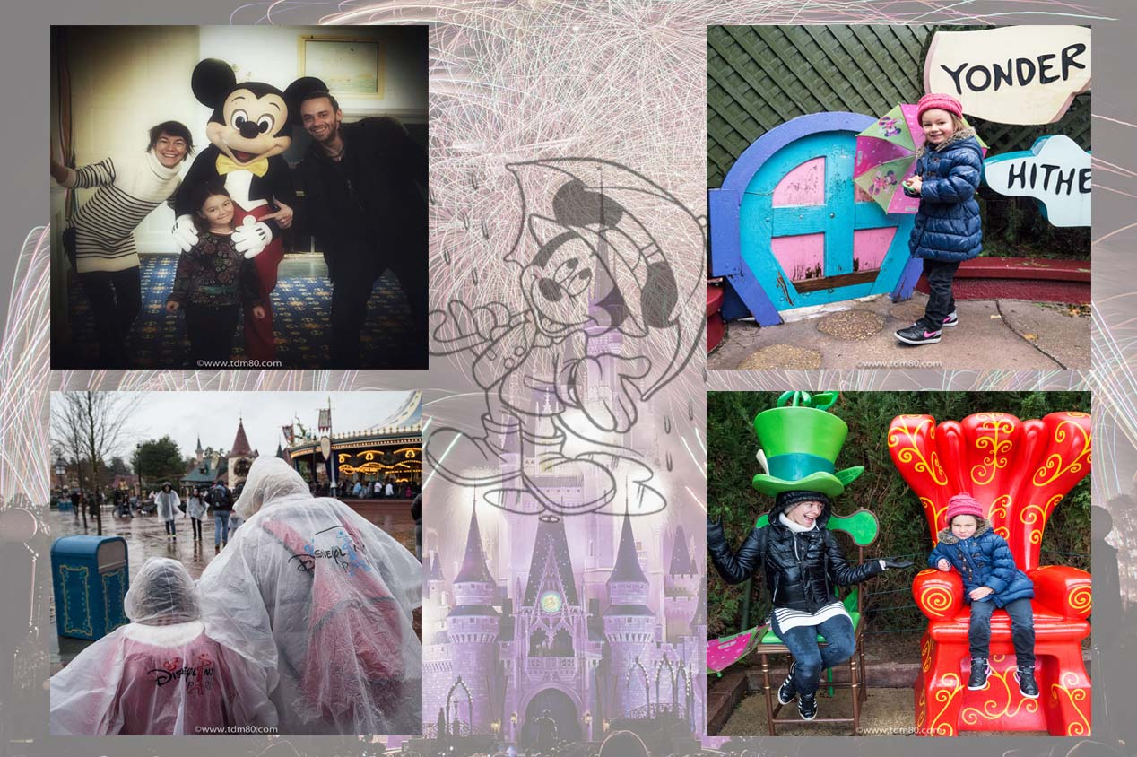 Disneyland Paris en Famille sous la pluie
