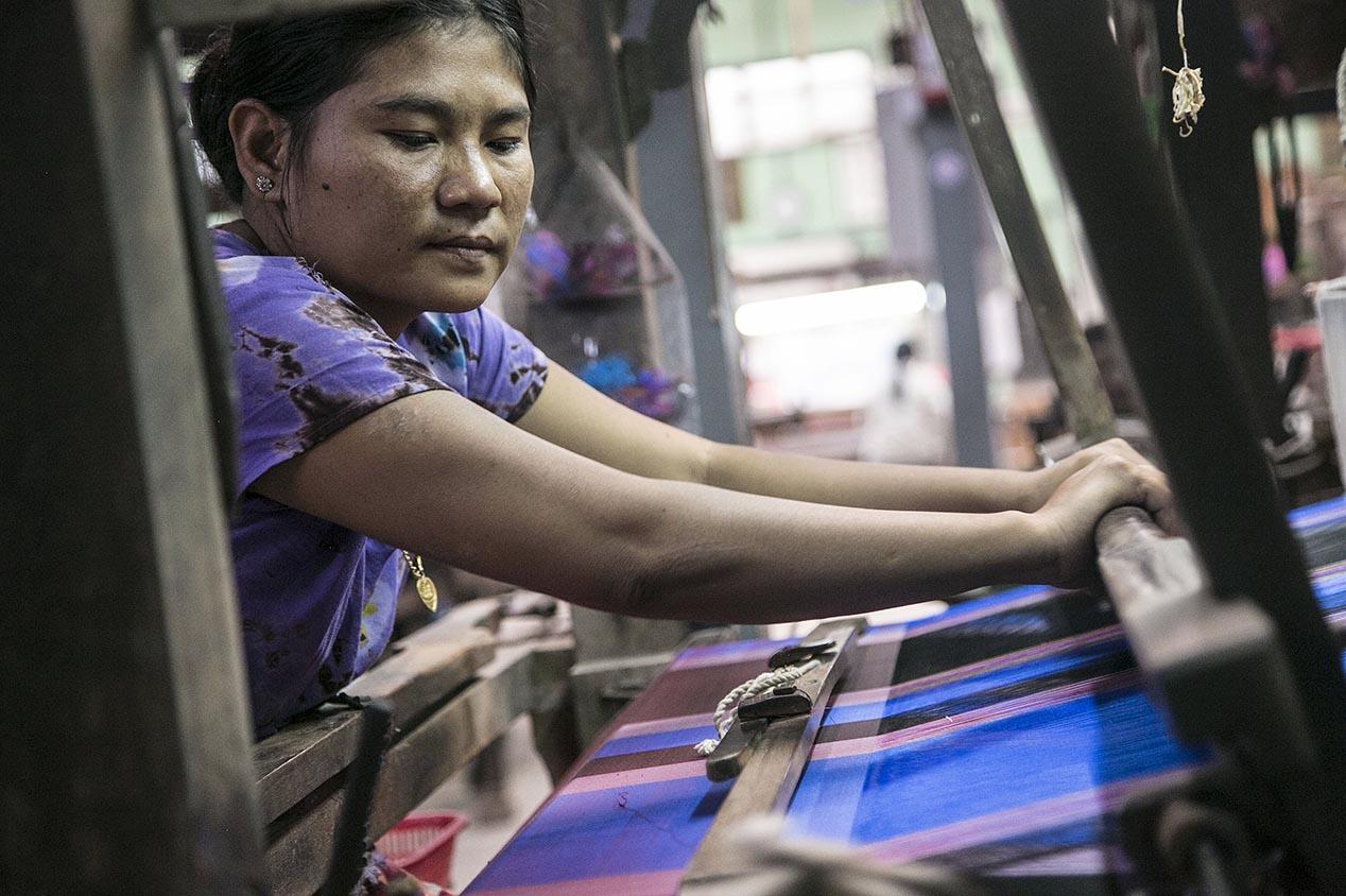 Les ateliers textiles de Myanmar