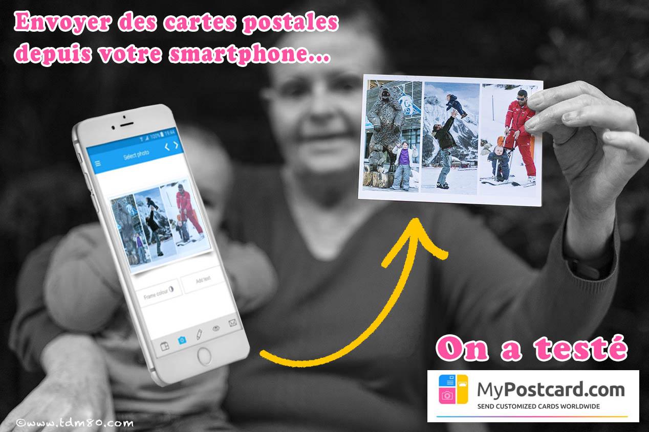 Envoyer des cartes postales personnalisées en 3 clics