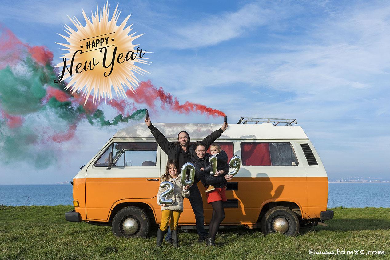 Famille, combi, soleil, réflexions et bonne année !